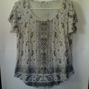 Lucky Brand Large Short Sleeve Top
